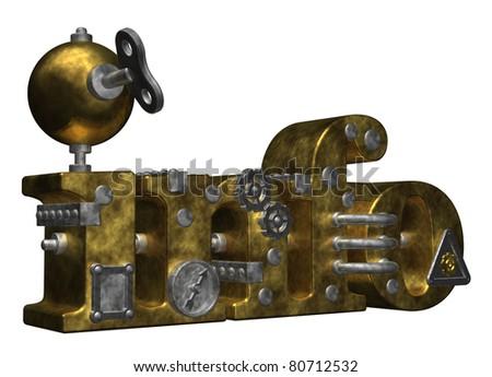 metal info tag on white background- 3d illustration - stock photo