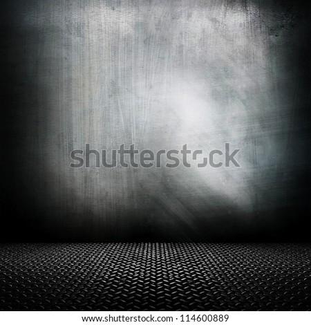 metal interior - stock photo