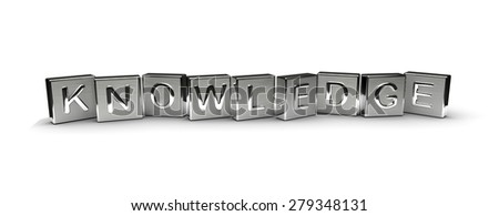Metal Knowledge Text (Isolated on white background) - stock photo