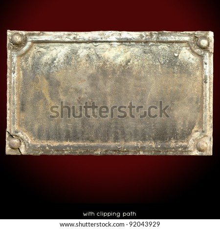Metal label blank. - stock photo