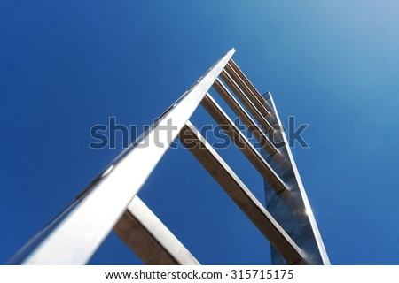 Metal ladder - stock photo