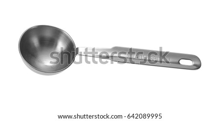 Metal Measuring Spoon Tablespoon. Isolated On White Background.