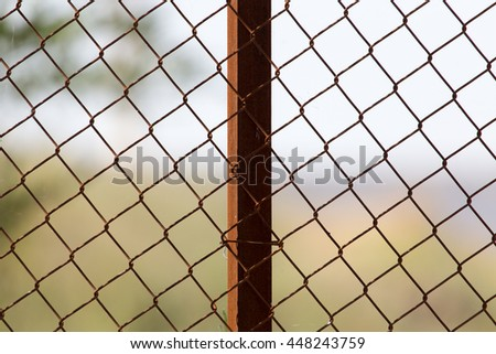 metal mesh in nature as a background