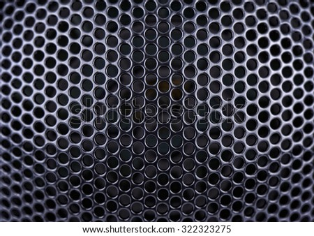 Metal mesh in the shape of a hemisphere, background, Shallow DOF - stock photo