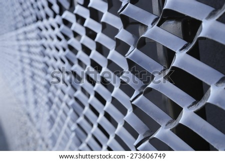 metal mesh, modern technology background - stock photo