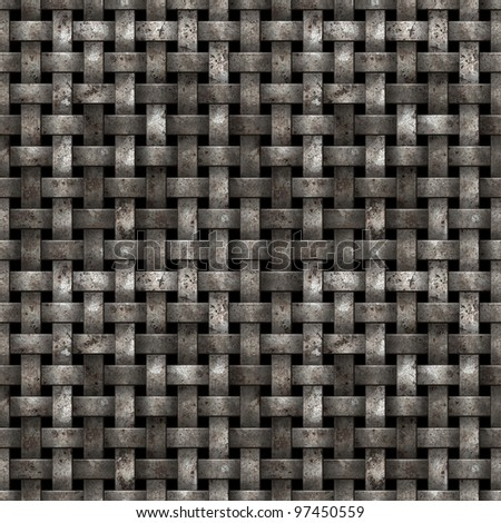 Metal net seamless background - texture pattern for continuous replicate. - stock photo