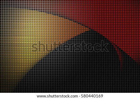 Metal net with color lighting  background