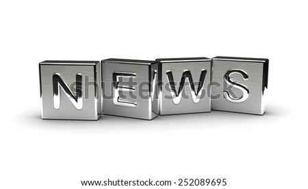 Metal News Text - stock photo