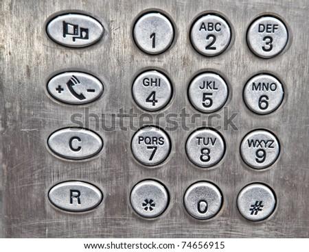 Metal numbers - stock photo