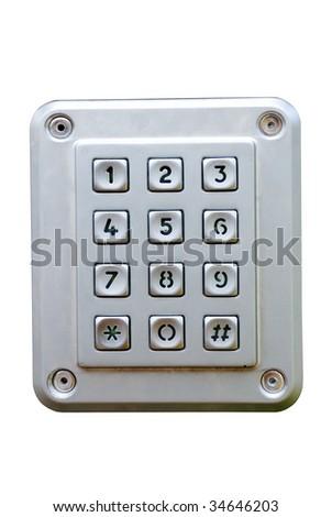 metal numeric keyboard - stock photo