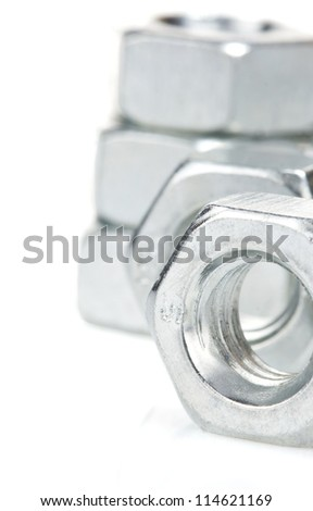 metal nuts tool isolated on white background