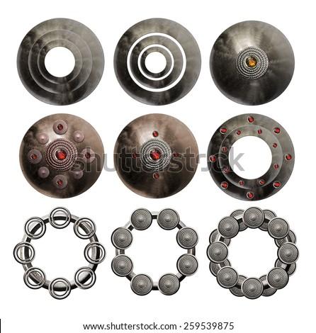 Metal object - stock photo
