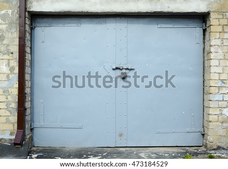 metal old garage door