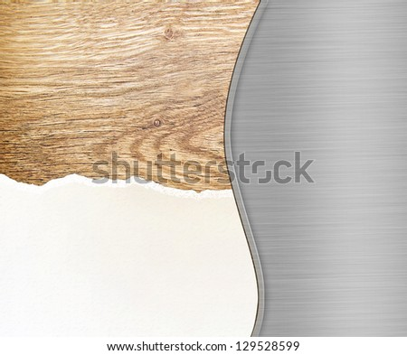 Metal, paper and wood - stock photo