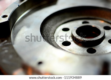 Metal part for metal working background for design - stock photo