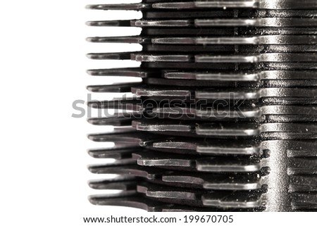 metal parts background - stock photo