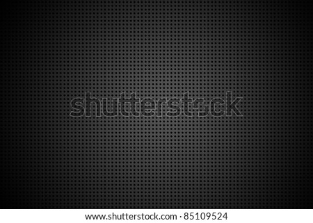 Metal Pattern Background. Black Vignette. Metal Sheet Texture