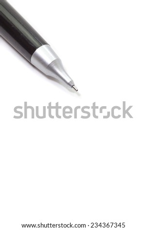 metal pencil on blank white paper note