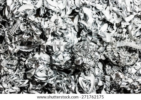 Metal pieces left after drilling texture. - stock photo