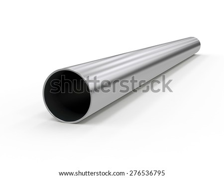 metal pipe - stock photo