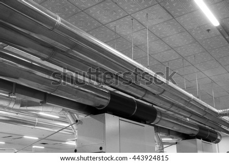 metal pipe in a factory, north china