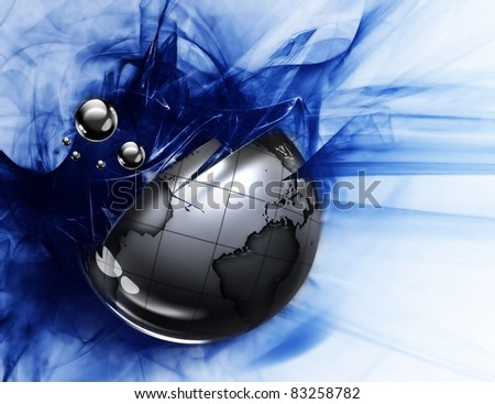 metal planet on an abstract grunge background - stock photo
