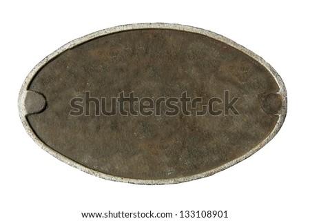 metal plate - stock photo