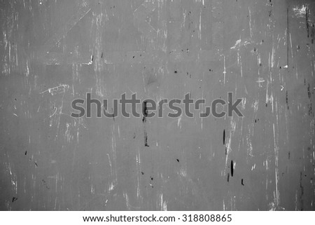 Metal plate background, grunge texture. Black and white - stock photo