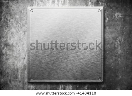 metal plate on wall