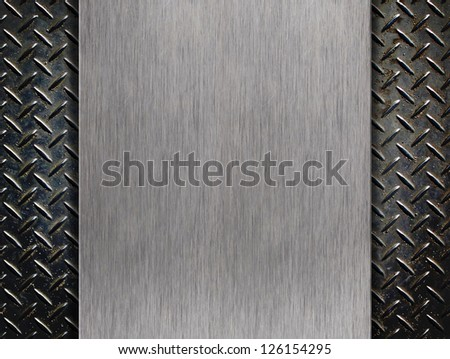 Metal plate over alumnium rhombus shapes for background