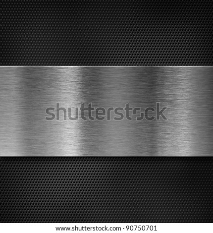 metal plate over grate - stock photo