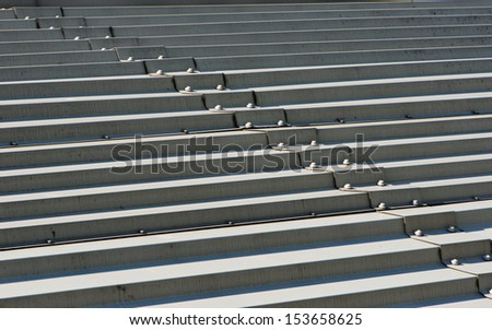 metal plate roof - stock photo