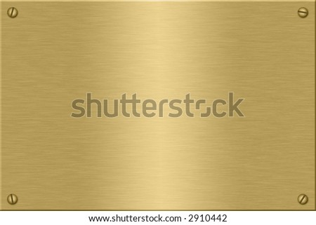 Metal plate series: gold.