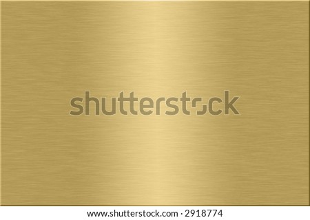 Metal plate series: gold. - stock photo