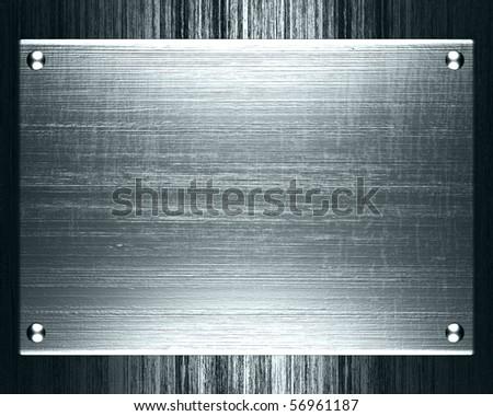 metal plate steel background - stock photo