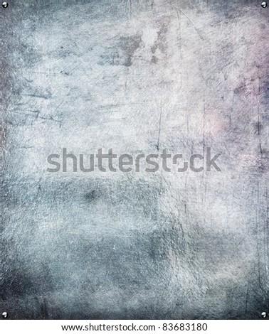 Metal plate steel background. - stock photo