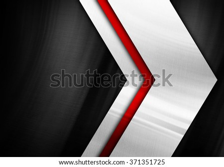 metal plate with arrow pattern background - stock photo