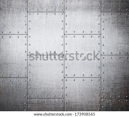 metal plates background - stock photo