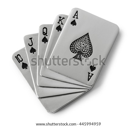 metal playing cards  - stock photo