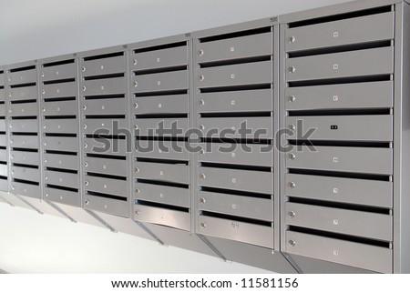 metal postbox - stock photo