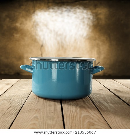 metal pot  - stock photo