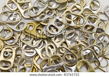 metal ring pulls aluminum cans