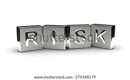 Metal Risk Text (Isolated on white background) - stock photo