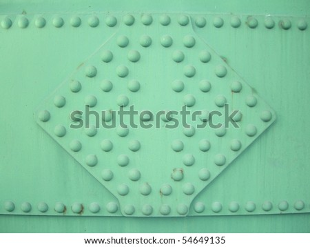 metal rivets background - stock photo
