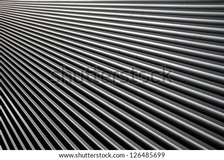 Metal roof abstract surface - stock photo