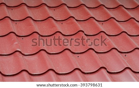 metal roof texture Red dirty - stock photo