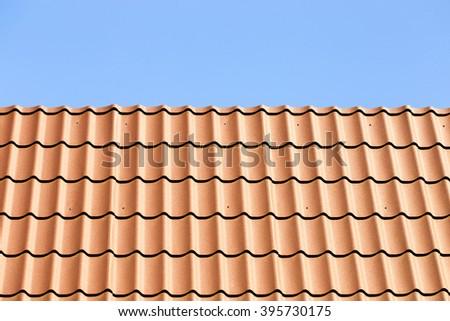 Metal roof tiles - stock photo