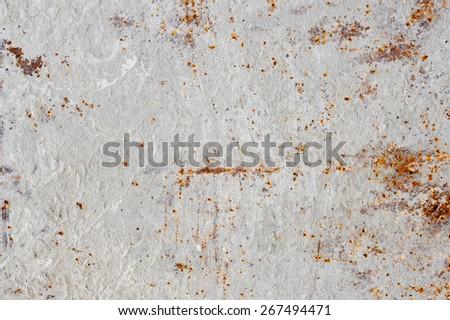 Metal rust surface of concrete mixer. Texture - stock photo