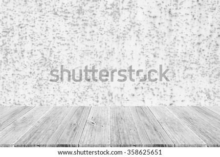 Metal rust wall texture surface white color use for background with Wood terrace