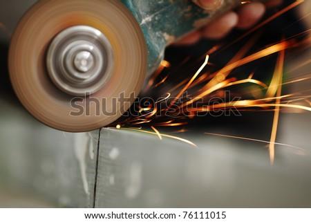 metal sawing - stock photo
